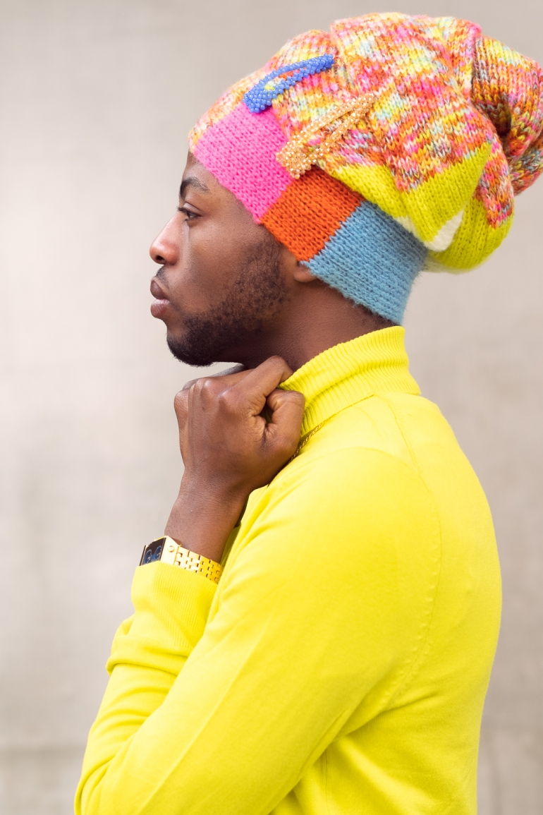 black male headwrap model--2